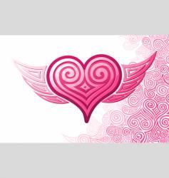 Heart wings vector