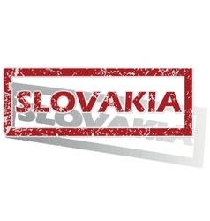 Slovakia outlined stamp vector
