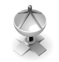 Dish-shaped antenna vector