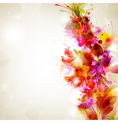 Flower and design vector