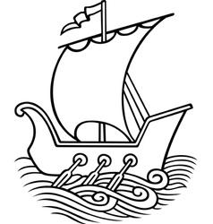 Sail ship vector