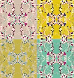 Set of traditional ornamental paisley bandanna vector