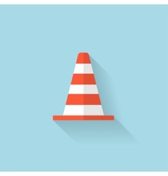 Flat web icon traffic cone vector