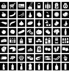 Set of supermarket symbols vector