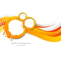 Abstract wavy orange background vector