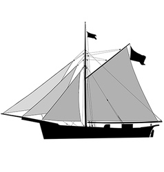 Sailship cutter vector