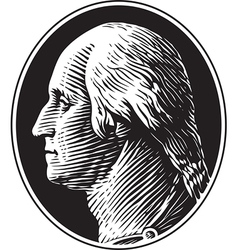 George washington portrait vintage style vector