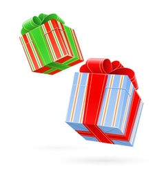 Gift box with bow vector