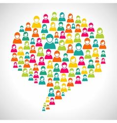 Diversity people speech bubble vector