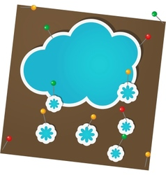 Sticker winter vector