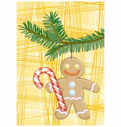 Gingerbread man vector