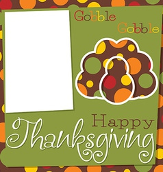 Thanksgiving cut out card in format vector