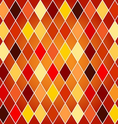 Seamless harlequin pattern-orange and red tones vector