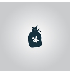 Money bag icon yen jpy vector