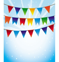 Holiday background with bright flags vector