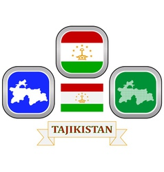 Symbol of tajikistan vector
