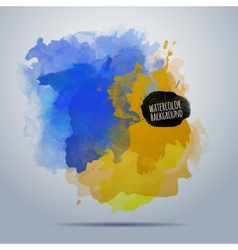 Watercolor paint abstract background vector