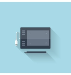 Flat web icongraphic painting tablet vector