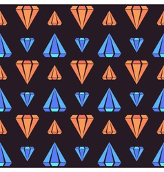 Retro contrast seamless pattern with diamonds vector
