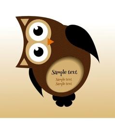 Owl frame vector