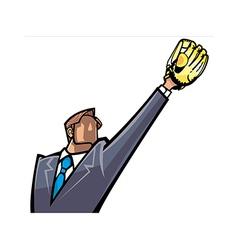Man catching ball vector