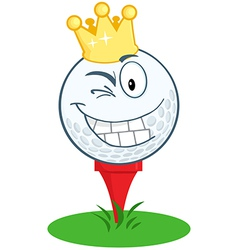 King golf ball golfer vector