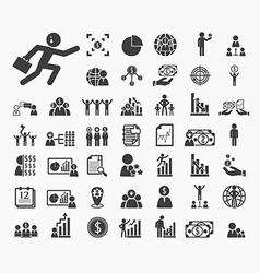 Human resource icons set vector