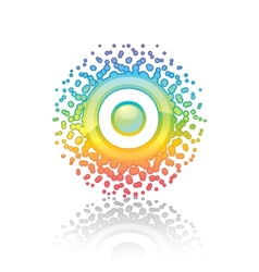 Sign rainbow sun vector