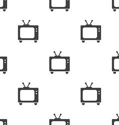 Tv seamless pattern vector