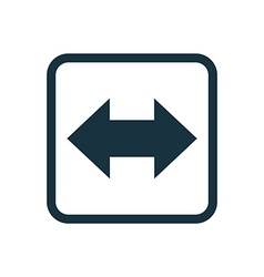 2 side arrow icon rounded squares button vector