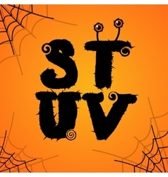 Halloween scary colorful alphabet vector