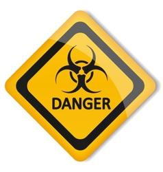 Label biohazard vector