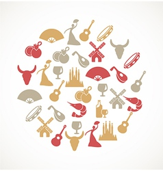 Spain icons vector