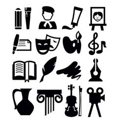 Arts icon vector
