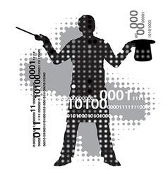 Computer magician vector