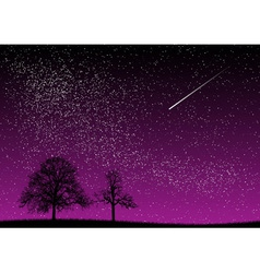 Black and purple dark night vector