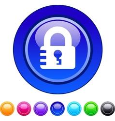 Lock circle button vector