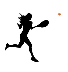 A woman is a tennis player vector