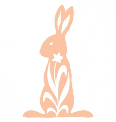 Vintage rabbit standing vector
