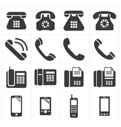Icon telephone classic to smartphone vector
