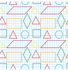 Seamless pattern with outlines of geomertical vector