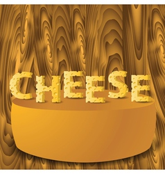 Cheese letters vector