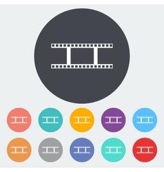 Film flat icon vector