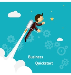 Cartoon design for business growth and start up vector