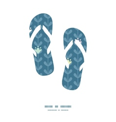 Blloming vines stripes flip flops vector