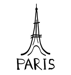 Eiffel tower icon in sketch style vector