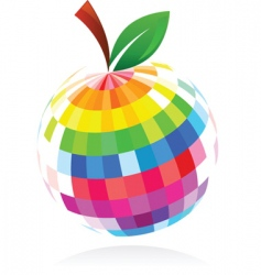 Abstract apple design vector