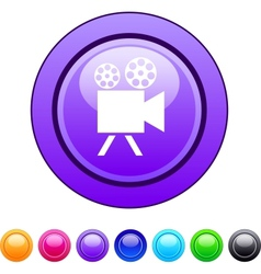 Video camera circle button vector