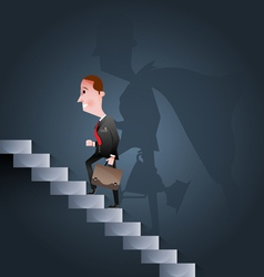 Stairway to success business concept vector