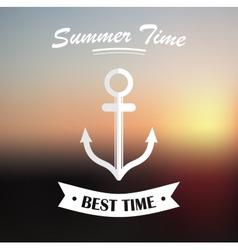 Summer design on blured background vector
